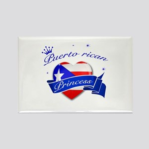 Puertorican Princess Rectangle Magnet