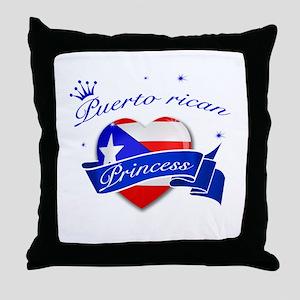 Puertorican Princess Throw Pillow