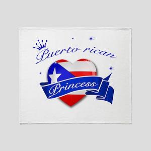 Puertorican Princess Throw Blanket