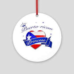 Puertorican Princess Ornament (Round)