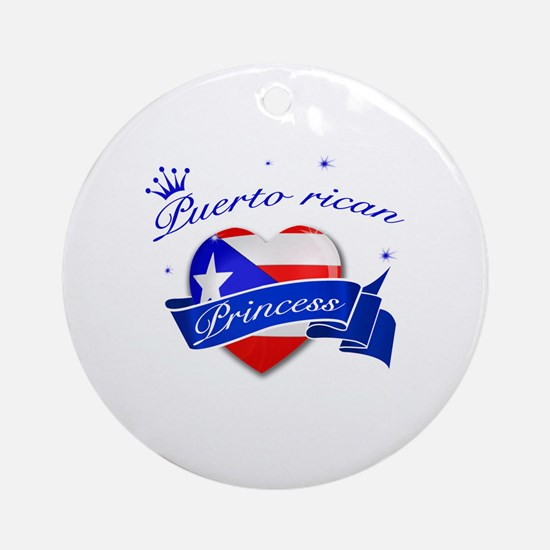 Puertorican Princess Ornament (Round)