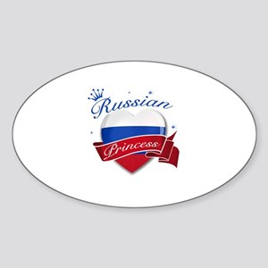 Russian Princess Sticker (Oval)
