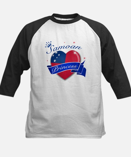 Samoan Princess Kids Baseball Jersey
