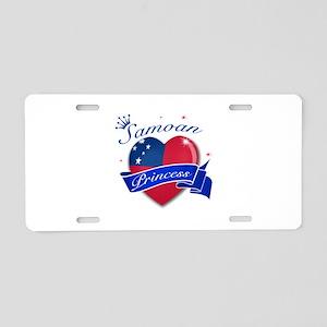 Samoan Princess Aluminum License Plate
