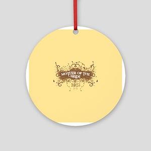 2013 Grunge Bride Mother Ornament (Round)