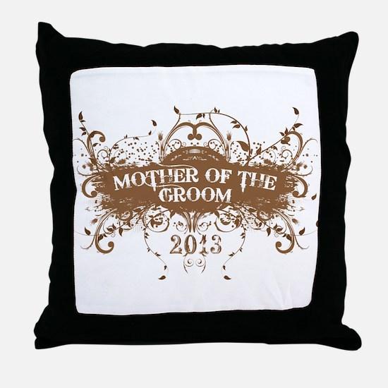 2013 Grunge Groom Mother Throw Pillow