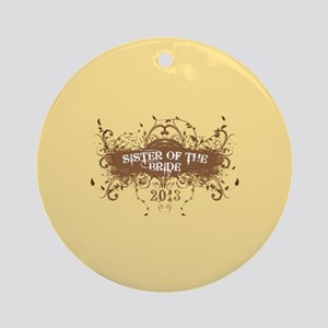 2013 Grunge Bride Sister Ornament (Round)