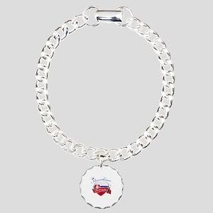 Slovakian Princess Charm Bracelet, One Charm