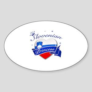 Slovenian Princess Sticker (Oval)