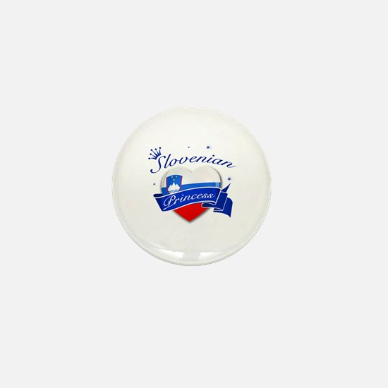 Slovenian Princess Mini Button