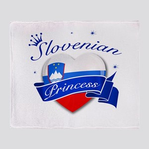 Slovenian Princess Throw Blanket