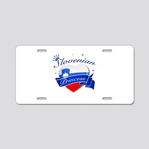 Slovenian Princess Aluminum License Plate