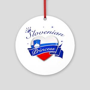 Slovenian Princess Ornament (Round)
