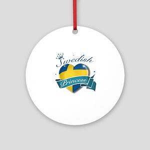 Swedish Princess Ornament (Round)