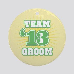Sage Emblem Star Groom 12 Ornament (Round)