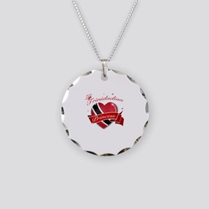 Trinidadian Princess Necklace Circle Charm