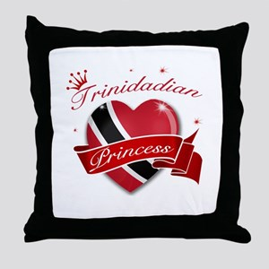 Trinidadian Princess Throw Pillow