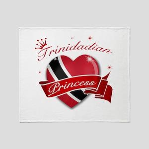 Trinidadian Princess Throw Blanket