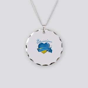 Ukrainian Princess Necklace Circle Charm