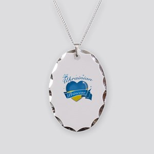 Ukrainian Princess Necklace Oval Charm