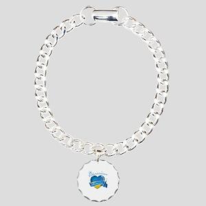 Ukrainian Princess Charm Bracelet, One Charm