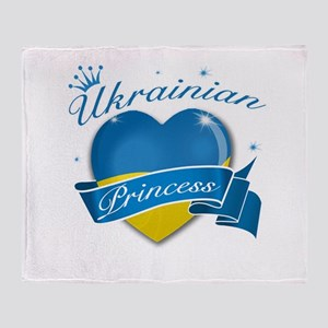 Ukrainian Princess Throw Blanket