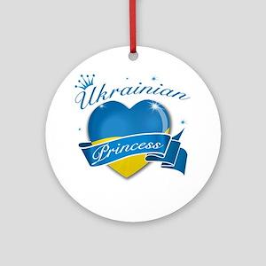 Ukrainian Princess Ornament (Round)