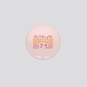 Step-Father Bride Champagne 2 Mini Button