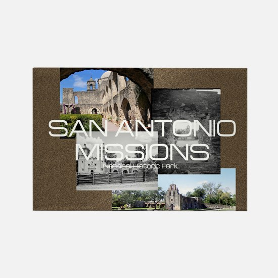 ABH San Antonio Missions Rectangle Magnet