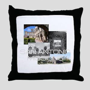 ABH San Antonio Missions Throw Pillow