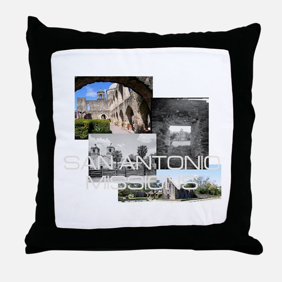 ABH San Antonio Missions Throw Pillow