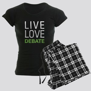 Live Love Debate Women's Dark Pajamas