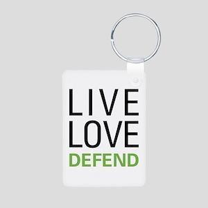 Live Love Defend Aluminum Photo Keychain