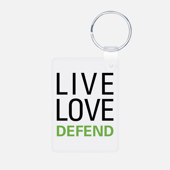 Live Love Defend Keychains