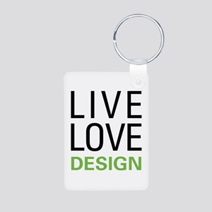 Live Love Design Aluminum Photo Keychain