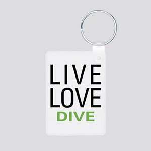 Live Love Dive Aluminum Photo Keychain