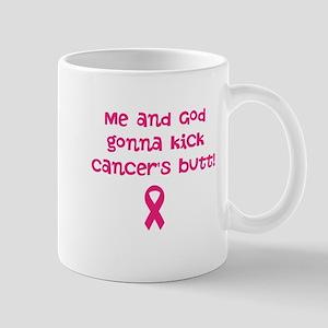 Me, God, and cancer Mug