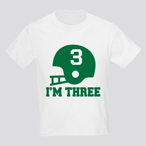 Three Year Old Football Kids Light T-Shirt