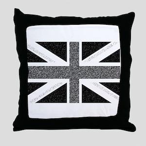 BRIT N' SPIRED Grey FlagThrow Pillow