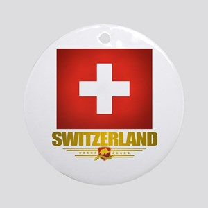 """Swiss Pride"" Ornament (Round)"