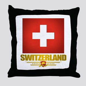 """Swiss Pride"" Throw Pillow"