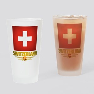 """Swiss Pride"" Drinking Glass"