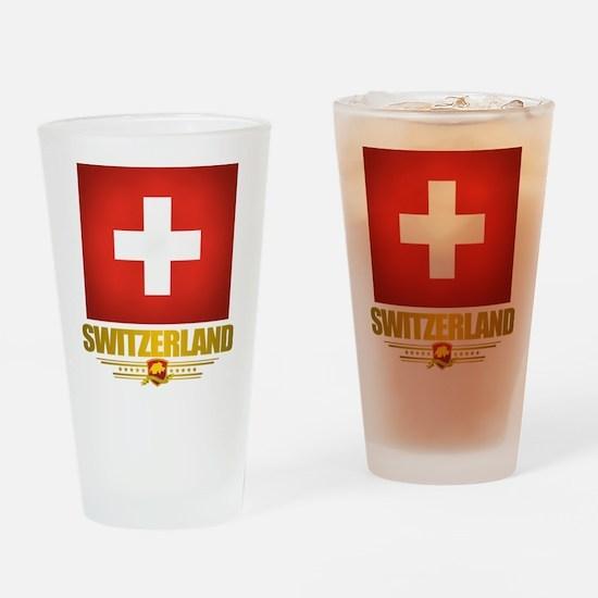 """Swiss Pride"" Drinking Glass"