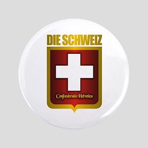 """""""Swiss Gold"""" 3.5"""" Button"""