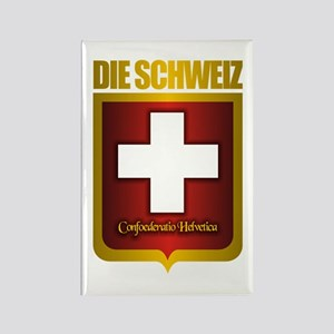 """""""Swiss Gold"""" Rectangle Magnet"""