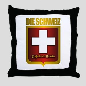 """""""Swiss Gold"""" Throw Pillow"""