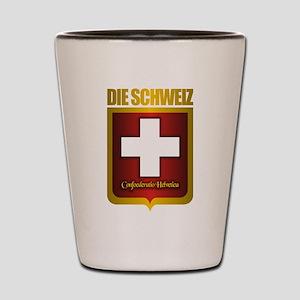 """""""Swiss Gold"""" Shot Glass"""
