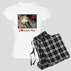 I Love You Dogs Women's Light Pajamas