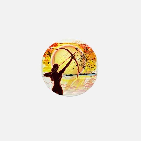 Katniss Radiant as the Sun Mini Button