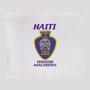 Haiti Tonton Macoutes Throw Blanket